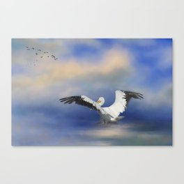 Take Off by the Sea Canvas Print