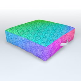 d20 Prismatic Spray Critical Hit Pattern Outdoor Floor Cushion