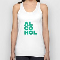 alcohol Tank Tops featuring Alcohol by Bálint Magyar