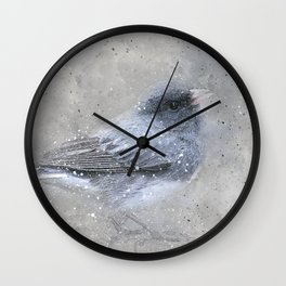 Dark Eyed Junco Bird Wall Clock