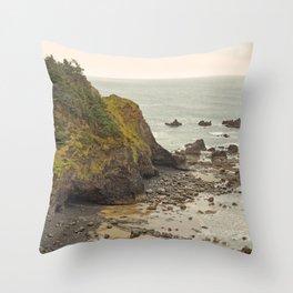 Ecola Point, Oregon Coast, hiking, adventure photography, Northwest Landscape Throw Pillow