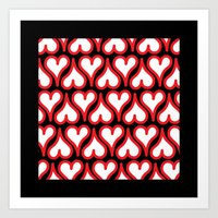 Hearts Up and Down Art Print
