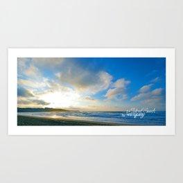 Fistral Beach, Newquay, England Art Print