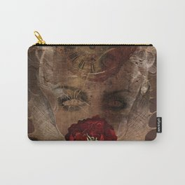 Lady with the red rose Carry-All Pouch
