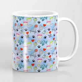 Cat Fitness Repeating Pattern Coffee Mug