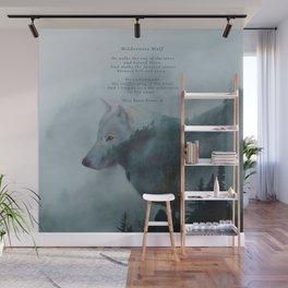 Wilderness Wolf & Poem Wall Mural