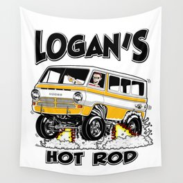 Logan's Hot Rod Van -1 rev2 Wall Tapestry