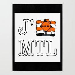 J'cone Montréal Poster