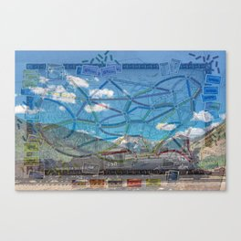 Ticket To Train Board Game Canvas Print
