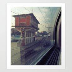 let's take the train Art Print