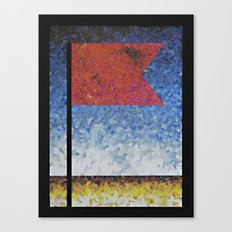 COLLAGE LOVE: Red Flag Canvas Print