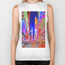 Times Square New York Pop Art Biker Tank