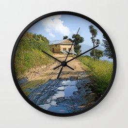 MUDDY ROAD NEPAL Wall Clock