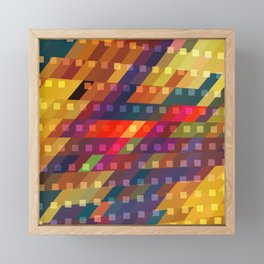 urban light flash Framed Mini Art Print