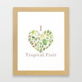Tropical Fruit Love Heart Framed Art Print