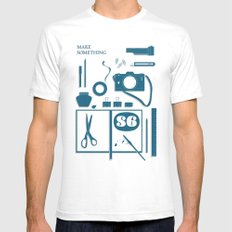 S6 tee SMALL White Mens Fitted Tee