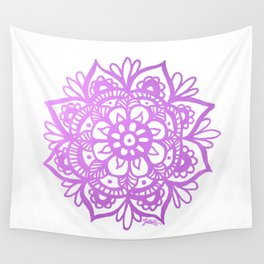 Purple Mandala Wall Tapestry