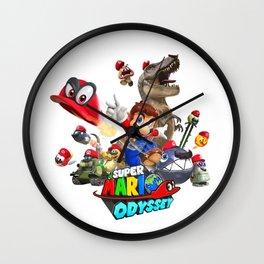 super mario odyssey Wall Clock