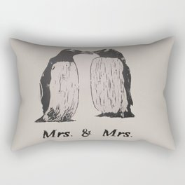 Wedding Penguins (Mrs. & Mrs.) Rectangular Pillow