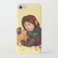 kili iPhone & iPod Cases featuring Kili and Kitten by Hattie Hedgehog