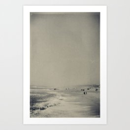 Sunday Stroll on the Jersey Shore Art Print