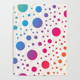 Abstract colorful background with cirlces Poster