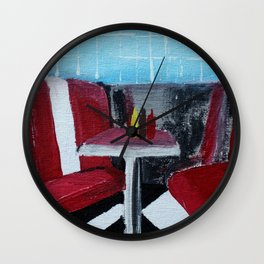 American Diner Impressionist Acrylic Fine Art Wall Clock