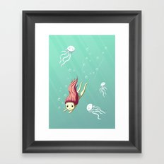Diver Framed Art Print