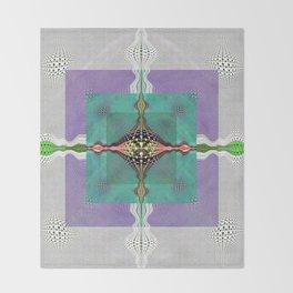 Sacred Healing Resonant Mandala Throw Blanket