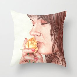 Sweet Perfume Throw Pillow