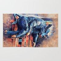 taurus Area & Throw Rugs featuring Taurus by jbjart