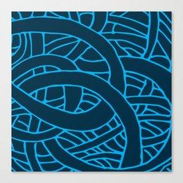 Microcosm in Blue Canvas Print