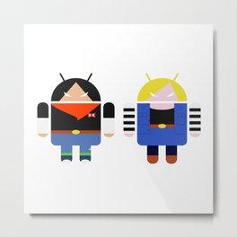 Androids 17 & 18 Metal Print