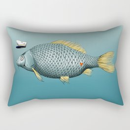 Captain Carp Rectangular Pillow