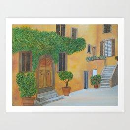 Village in Tuscany #4 Art Print