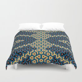 Squiggle Trails Most Awesome Yellow Red Blue and Black Duvet Cover