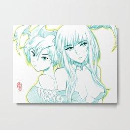 Morrigan and Lilith 02 Metal Print