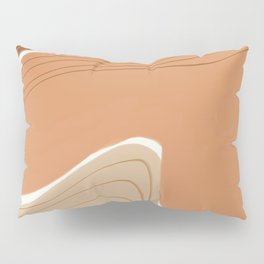 Earth tone abstract geometry Pillow Sham