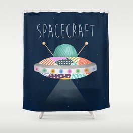 Spacecraft Shower Curtain