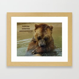 In Deep Thought   - Grizzly Bear Framed Art Print