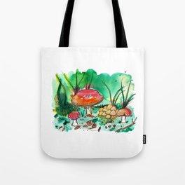 Toadstool Mushroom Fairy Land Tote Bag
