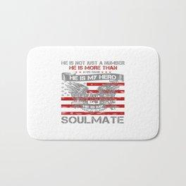 He is my Hero - Soulmate Bath Mat