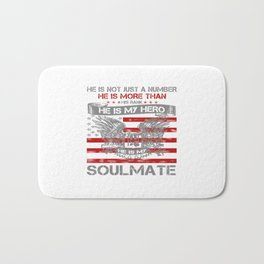 He is my Hero - Soulmate Bath Mat