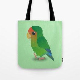 Cute peach faced lovebird Tote Bag