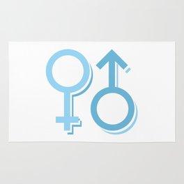 Man and woman symbol #society6 #decor #buyart #artprint Rug