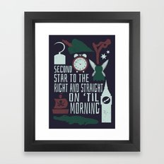 Peter Pan- Second Star to the Right Framed Art Print
