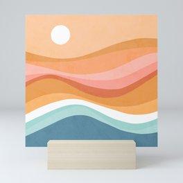 Rainbow Waves Seascape Mini Art Print