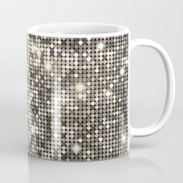 Silver Metallic Glitter sequins Coffee Mug