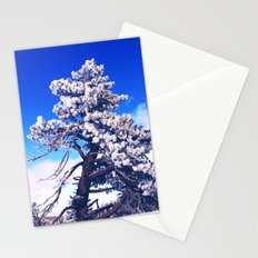 Snow covered trees Stationery Cards