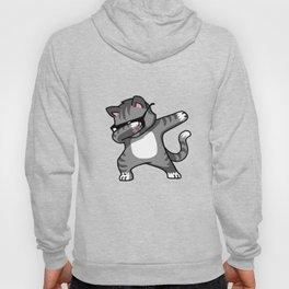 Dabbing Cat Grey Hoody